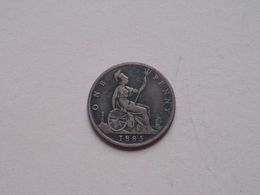 1885 - 1 Penny / KM 755 ( For Grade, Please See Photo ) ! - 1816-1901 : Frappes XIX° S.