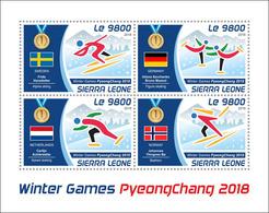 Sierra Leone. 2018 Winter Games. (218a) - Olympic Games