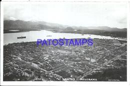 93045 BRAZIL BRASIL SANTOS SAO PAULO VIEW PANORAMA AERIAL POSTAL POSTCARD - Brazil