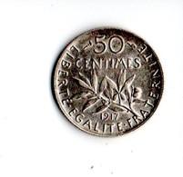FRANCE . 50 CENTIMES SEMEUSE 1917 . ARGENT - Réf. N°192B - - France