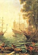 [MD1489] CPM - CLAUDE LORRAIN - 1600 1682 - L'IMBARCO DI S. ORSOLA - PARTICOLARE - LONDRA NATIONAL GALLERY - NV - Pittura & Quadri