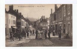 Saint Léger Sur Dheune. Rue Du Pont. Magasins. Bicyclettes. Enfants... (2724) - France
