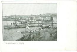 1900's, Norway-Ved Vestbanestationen (dockyard). Printed Pc, Unused - Norvège