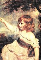 [MD1495] CPM - JOSHUA REYNOLDS - RITRATTO DI MASTER HARE - PARIGI - MUSEO DEL LOUVRE - NV - Pittura & Quadri