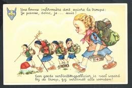 +++ CPA FANTAISIE - Scout Scoutisme - Infirmière Infimier   // - Scoutisme