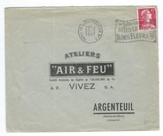LETTRE  ARGENTEUIL  ATELIERS AIR & FEU VIVEZ - 1921-1960: Moderne