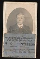 GENT   - WERKMANS ABONNEMENT 1913 WERELDTENTOONSTELLING 2 SCANS - Destelbergen