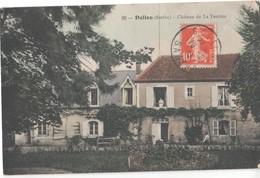 SARTHE.. DOLLON. CHATEAU DE LA TESTIERE.CACHET 1913. - Other Municipalities