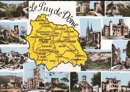 63----LE PUY DE DOME--carte Géographique Du Département--( Multivues )-voir 2 Scans - France