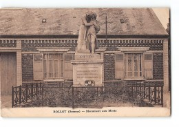 CPA 80 Rollot Monument Aux Morts - Other Municipalities