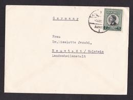 Jordan: Cover To Germany, 1 Stamp, King (traces Of Use) - Jordanië
