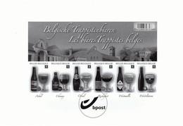 """Zwart/wit Ongetand En Ongenummerd Blaadje Bpost 2012 """"Belgische Trappistenbieren"""" - Black-and-white Panes"""