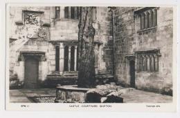 AK29 Castle Courtyard, Skipton - RPPC - England