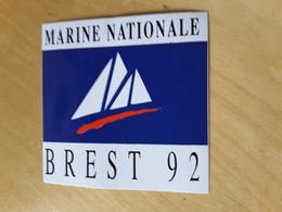 Autocollant Marine Nationale Brest 92 - Stickers