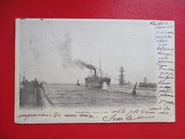 CPA 59 DUNKERQUE ENTREE DU PORT BATEAUX - Dunkerque