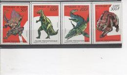GUINEE - Faune Préhistorique : Dimétrodon, Iguanodon, Tylosaure, Ours Des Cavernes. - Guinea (1958-...)