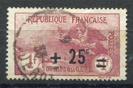 RC 8658 FRANCE N° 168 - +25c +1f+1f ORPHELINS SURCHARGÉ OBL. TB - Oblitérés