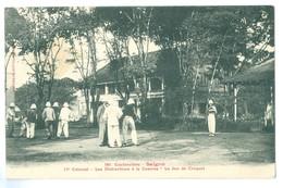 1900s CochinChine Vietnam, Saigon, Le Jeu De Croquet (Croquet Match) Pc, Used. - Vietnam