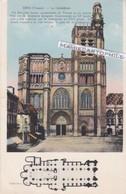 SENS - Dépt 89 - La Cathédrale Et Son Plan  -  CPA - 1940 - Sens