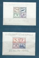Allemagne - Jeux Olympiques De 1936, Yvert Bloc N° 4  Et N° 5 LES DEUX BLOCS ** Neufs Sans Charnière  -  Phi 255 - Deutschland