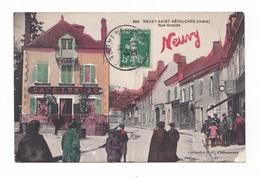 Neuvy-Saint-Sépulchre, Rue Grande, 1914, Collection G. G. N° 888, Café Luneau - France
