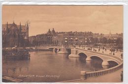 Amsterdam Nieuwe Amstelbrug Volk Verkeer Willibrorduskerk # 1907    1673 - Amsterdam