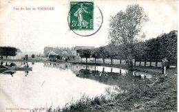 N°61477 -cpa Vue Du Lac De Vigneux -pêcheurs- - Vigneux Sur Seine