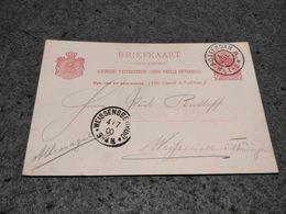 NETHERLANDS STATIONERY CARD CARD ROTTERDAM TO WEISENDORF GERMANY 1900 - Postal Stationery
