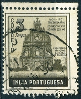 INDIA PORTOGHESE, PORTUGUESE INDIA, COMMEMORATIVO, JOSE VAZ, 1951, FRANCOBOLLI USATI Michel 476   Scott 512 - India Portoghese