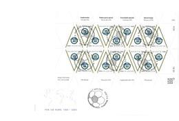 SUISSE 2004: Centenaire De La FIFA, FDC Avec Mini-feuille De 18 Timbres, TB - Lettres & Documents