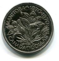 1970 Canada Manitoba Centennial $1 Coin - Canada