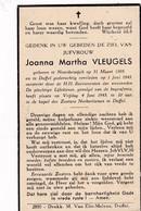 Noorderwijk, Duffel, 1943, Joanna Vleugels - Images Religieuses