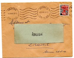 SEINE Et OISE - Dépt N° 78 = BEZONS 1960 =  FLAMME KRAG Muette '5 Lignes Ondulées' - Oblitérations Mécaniques (flammes)