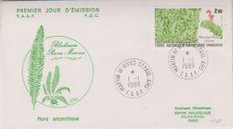 TAAF 1989 Plants 1v FDC (38526) - FDC