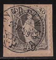 Schweiz, Nr. 61 B (Zumst. 69 B), Fr. 1200.-, Durchschnitt! ,  #a195 - 1882-1906 Armoiries, Helvetia Debout & UPU