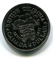 1971  Canada British Columbia Centennial $1 Coin - Canada