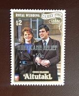 Aitutaki 1987 Hurricane Relief Royal Wedding MNH - Aitutaki