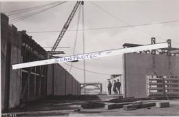 KWAADMECHELEN-ALBERTKANAAL-OPBOUW-SLUIS-BINNENVAART-FOTO-MINISTERIE-21.03.1939-ZIE DE 2 SCANS-UNIEK ARCHIEFSTUK ! ! ! - Ham