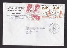 Senegal: Cover To Netherlands, 1987, 5 Stamps, Olympics Moscow, Judo, Sports, Lady, Rare Real Use! (roughly Opened) - Senegal (1960-...)