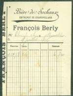 90 - Grandvillars Facture François Berly Bière De Sochaux 1894 - France