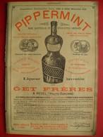 PUB 1901 - Pippermint à Revel 31; Tuileries De Marseille 13 BdR (35 Usines Vapeur) - Advertising