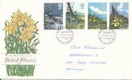 Great Britain Post Office Souvenir Cover Complete Set FLOWERS Heathrow Airport 14-2-1982 - 1952-.... (Elizabeth II)