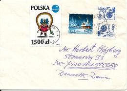 Poland Cover Sent To Denmark - 1944-.... Republic