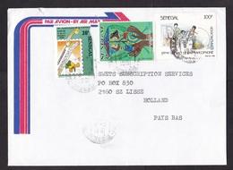 Senegal: Cover To Netherlands, 1991, 3 Stamps, Communications, SOS Children Village (left Stamp & Backside Damaged) - Senegal (1960-...)