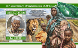 SIERRA LEONE 2018 MNH** Organization Of African Unity Nelson Mandela S/S - OFFICIAL ISSUE - DH1817 - Organizations