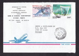 Senegal: Cover To Netherlands, 1995, 2 Stamps, Fishing, Fishery, UPU Exposition Seoul, Rare Real Use (traces Of Use) - Senegal (1960-...)