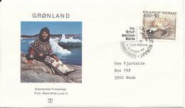 Greenland Cover With Special Postmark Stampexhibition In Sindelfingen 26-28/10-1990 - Groenlandia