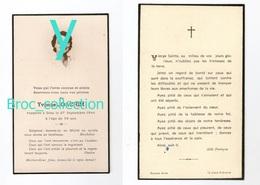 Villiers-Nonain, Saint-Brancher, Mémento D' Yvonne Joachim, 27/09/1944, 58 Ans (père Né à Usy, Domecy-sur-Cure) - Images Religieuses