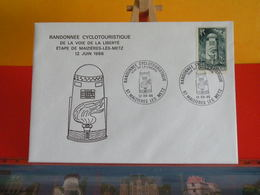 France Marcophilie (Lettres) > Alsace Lorraine > Voie De La Liberté > Maizières Les Metz (57) < 12.6.1986 > - Postmark Collection (Covers)