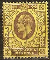 Grande Bretagne United Kingdom 1902-1910 Yvertn° 111 (o) Oblitéré Used Cote 11 Euro - Oblitérés